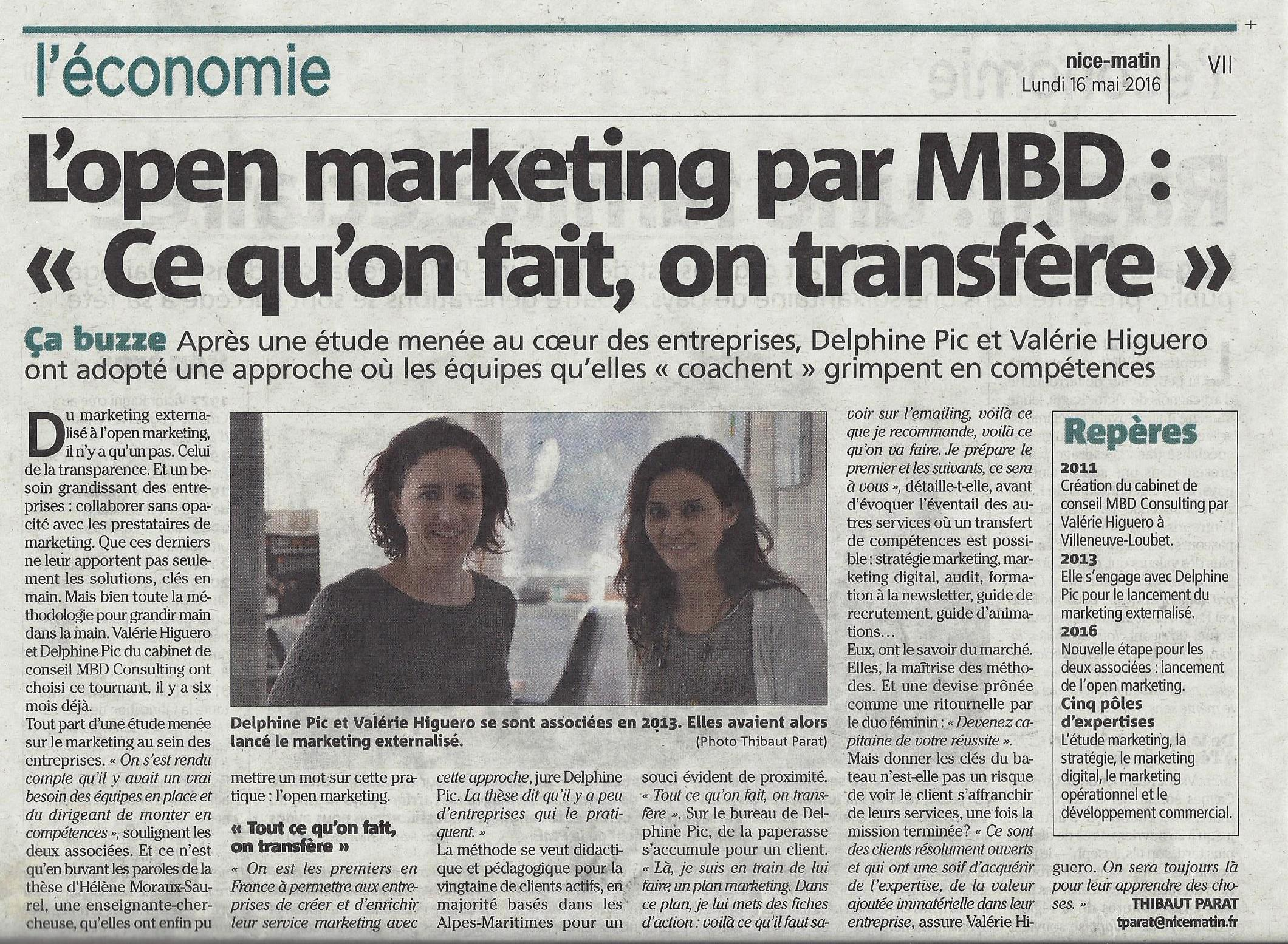 Revue de presse mbd consulting open marketing for Revue marketing