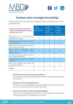 Grille d'évaluation emailing